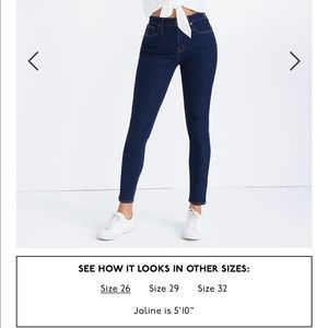 Madewell Curvy Jeans in Lucille Wash